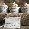 Peter Rabbit Birthday Party - cupcakes w/ custom label, stand, wrappers